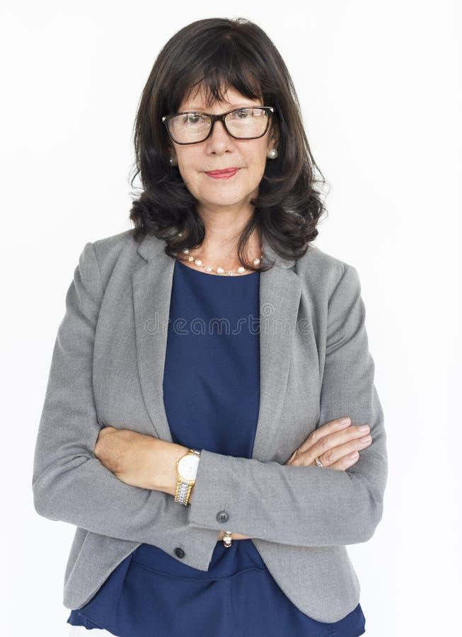 Begrepp för stående för aktning för kvinnaförtroendesjälv arkivfoton