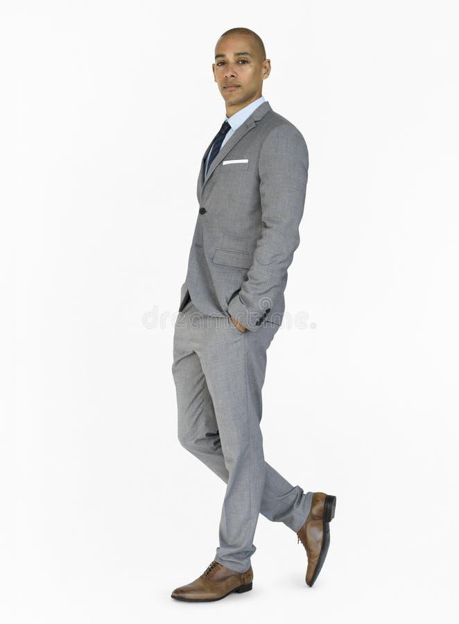 Begrepp för stående för aktning för manförtroendesjälv royaltyfri foto