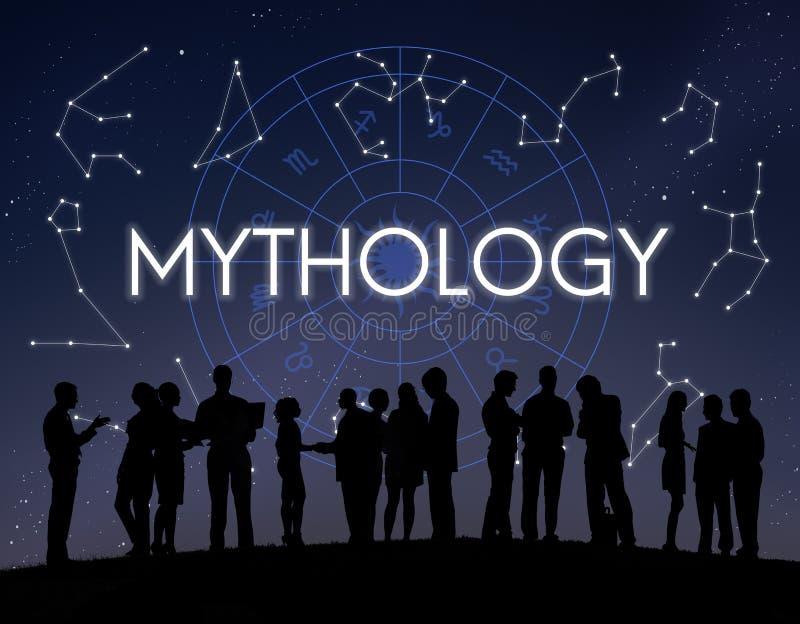 Begrepp för stjärna för mytologikosmosuniversum royaltyfri bild