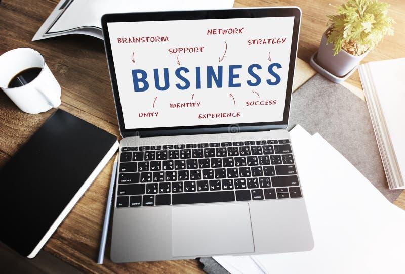 Begrepp för strategi för affärsarbetsframgång arkivbild