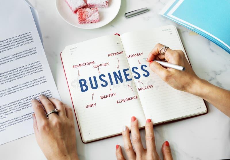 Begrepp för strategi för affärsarbetsframgång royaltyfria foton