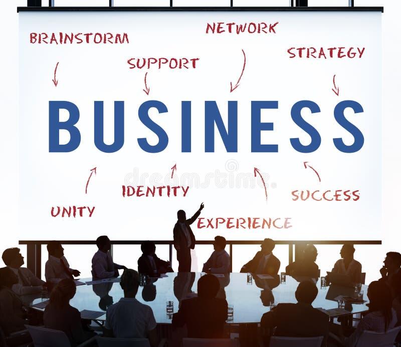 Begrepp för strategi för affärsarbetsframgång arkivfoton