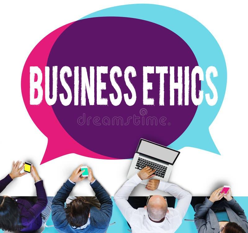 Begrepp för strategi för ansvar för ideologi för ärlighet för affärsetik arkivbild