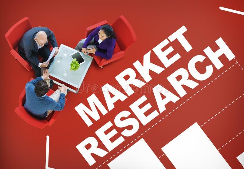 Begrepp för strategi för lösning för graf för stång för analys för marknadsforskning arkivbilder