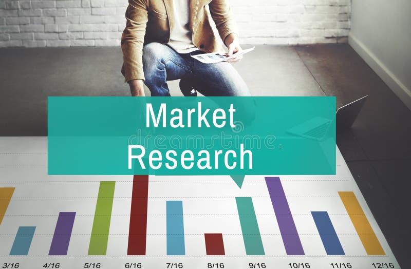 Begrepp för strategi för marknadsföring för konsument för analys för marknadsforskning royaltyfri foto