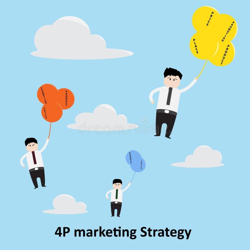 begrepp för strategi för marknadsföring 4P arkivbilder