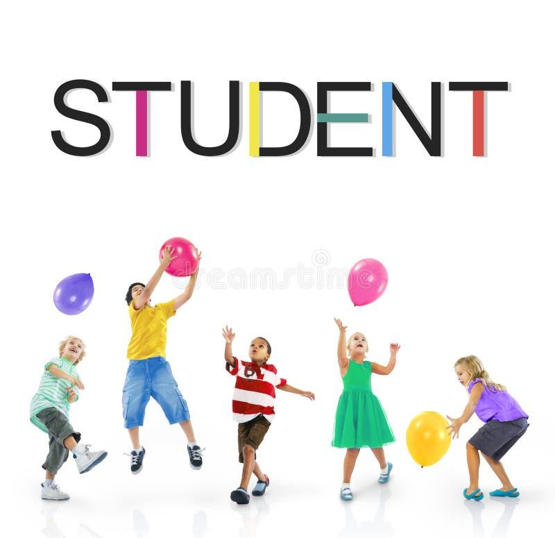 Begrepp för studentSchool Learning Intern utbildning arkivfoto