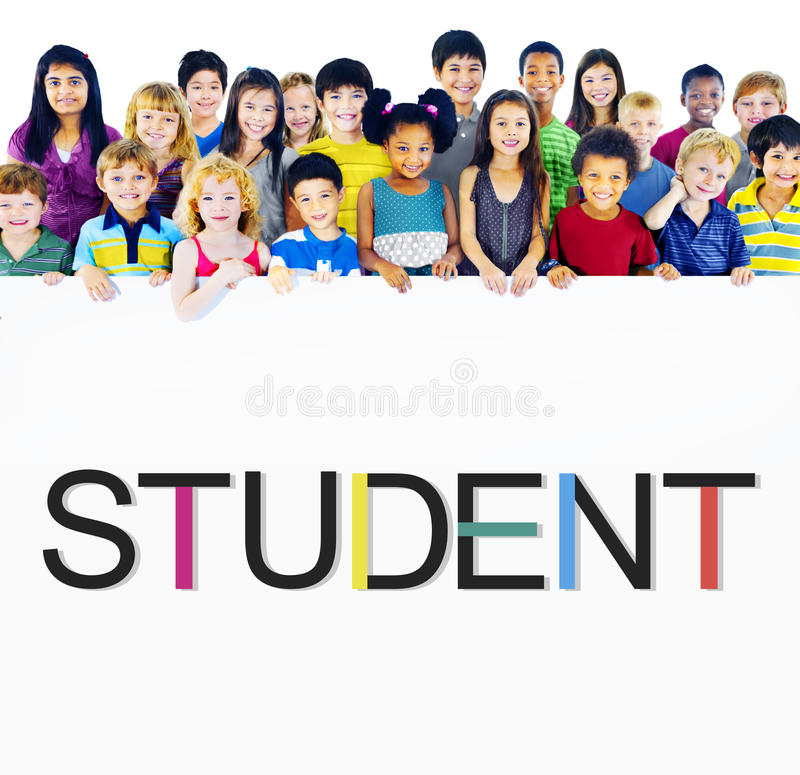 Begrepp för studentSchool Learning Intern utbildning royaltyfri bild