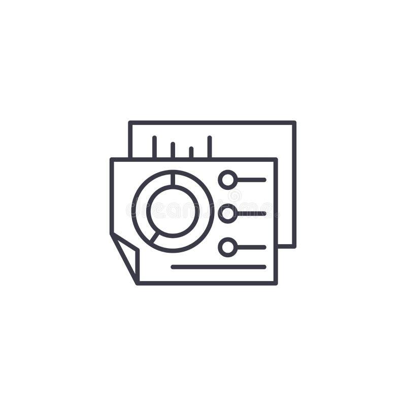 Begrepp för symbol för affärsinstrumentbräda linjärt Affärsinstrumentbrädalinje vektortecken, symbol, illustration vektor illustrationer