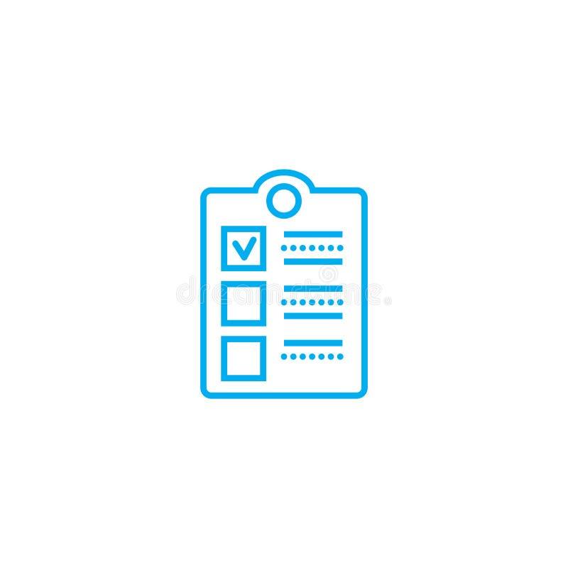Begrepp för symbol för anställdgranskning linjärt Anställdgranskningslinje vektortecken, symbol, illustration royaltyfri illustrationer