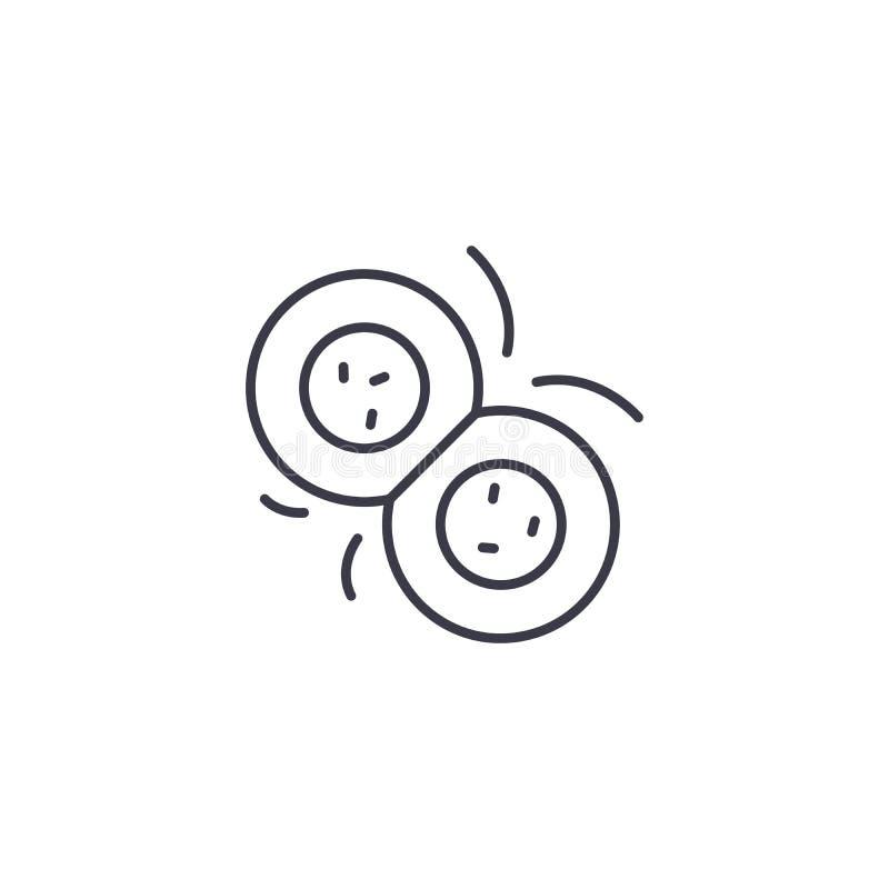Begrepp för symbol för celluppdelning linjärt Celluppdelningslinje vektortecken, symbol, illustration royaltyfri illustrationer