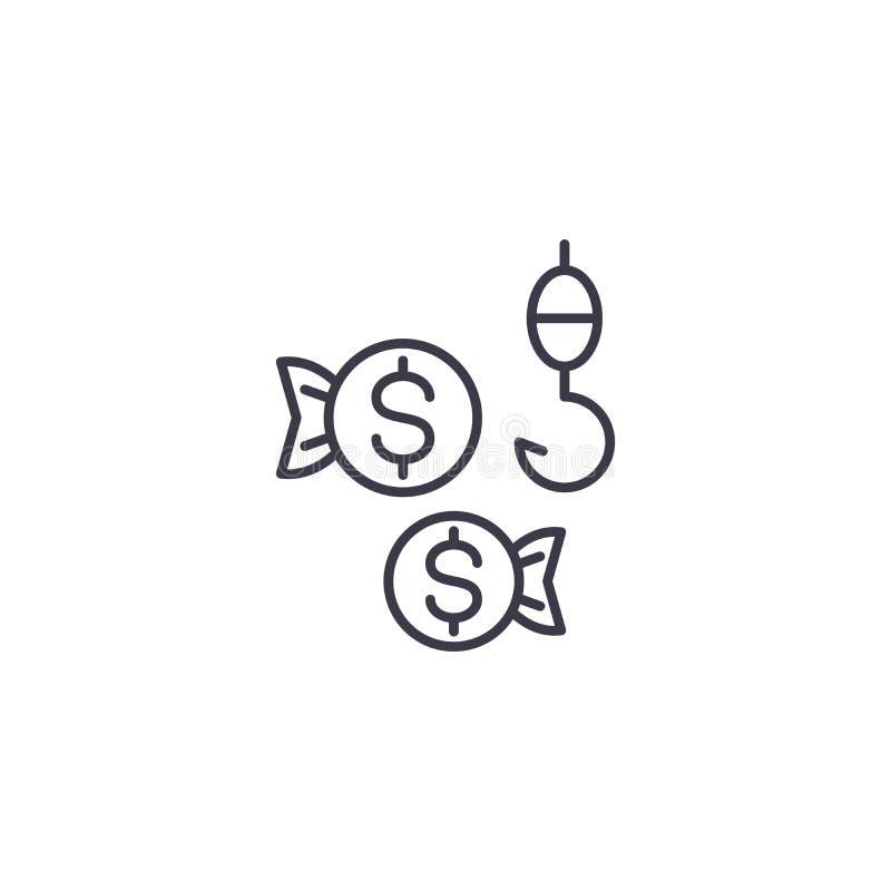 Begrepp för symbol för klientvädjan linjärt Klientvädjanlinje vektortecken, symbol, illustration stock illustrationer