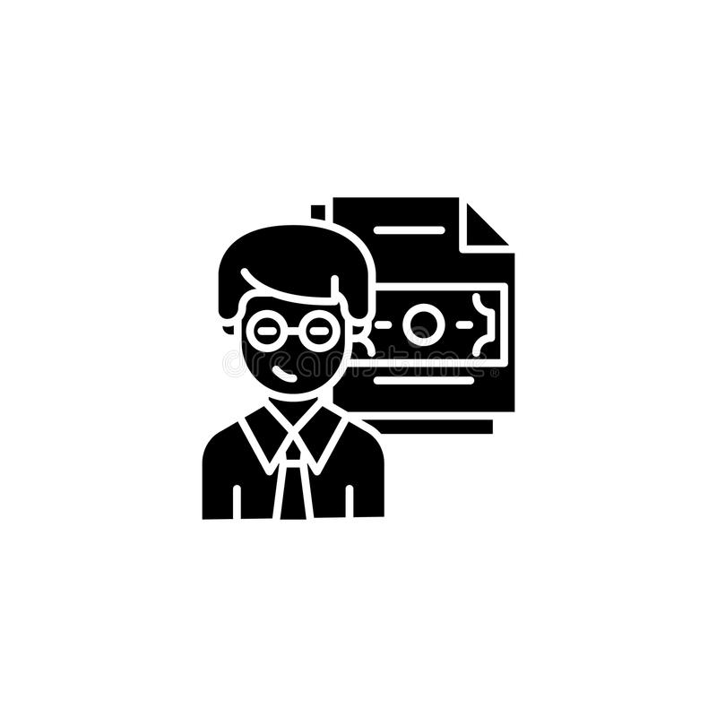 Begrepp för symbol för korruptionstatistik svart Korruptionstatistiken sänker vektorsymbolet, tecknet, illustration stock illustrationer
