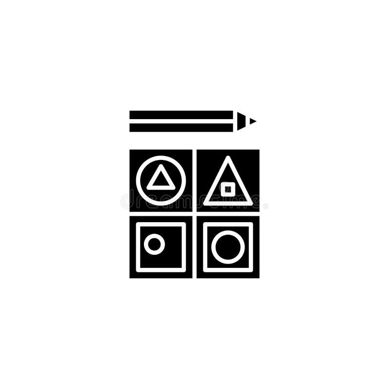 Begrepp för symbol för personalmotivationsvart Symbol för vektor för personalmotivationlägenhet, tecken, illustration stock illustrationer