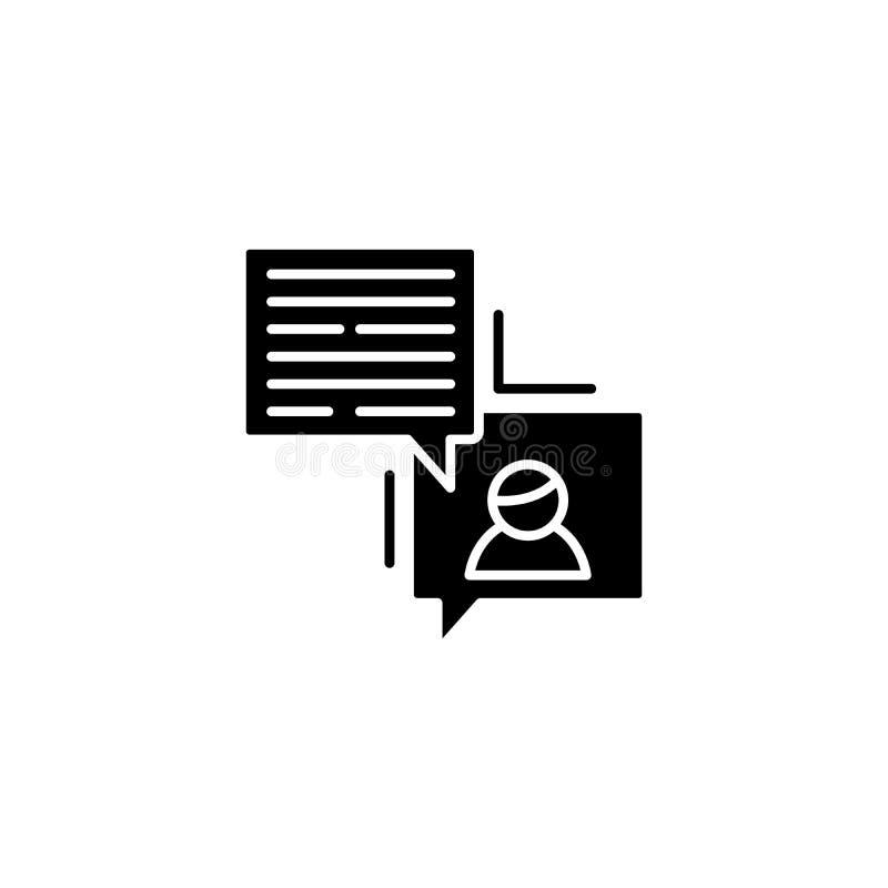 Begrepp för symbol för projektrapportsvart Symbol för vektor för projektrapportlägenhet, tecken, illustration vektor illustrationer