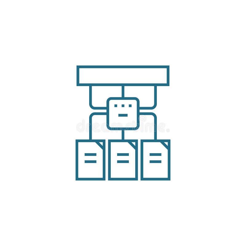 Begrepp för symbol för projektstruktur linjärt Projektstrukturlinje vektortecken, symbol, illustration stock illustrationer