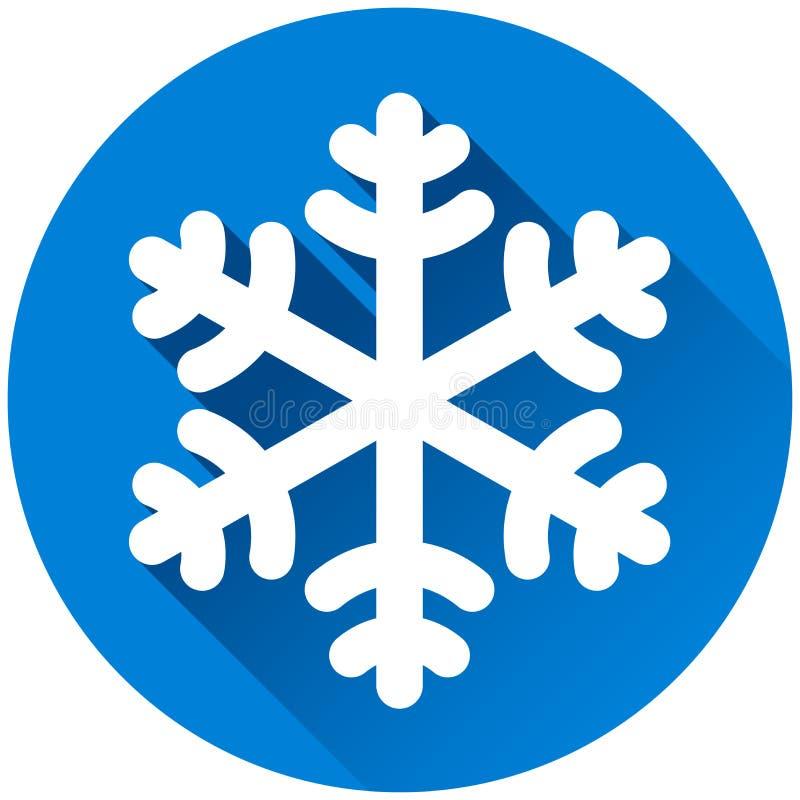 Begrepp för symbol för snöflingacirkelblått stock illustrationer