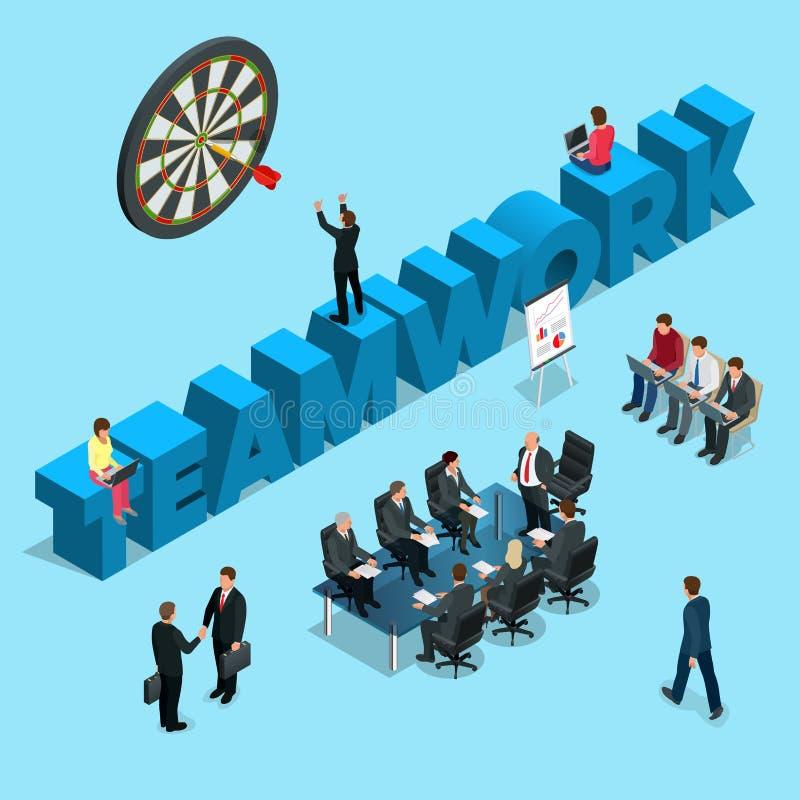 Begrepp för teamwork för affärsfolk, personalresurser vektor illustrationer
