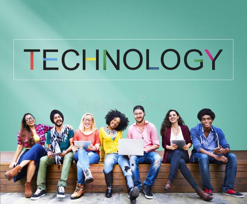 Begrepp för Tech för teknologiinnovationevolution innovativt royaltyfri bild