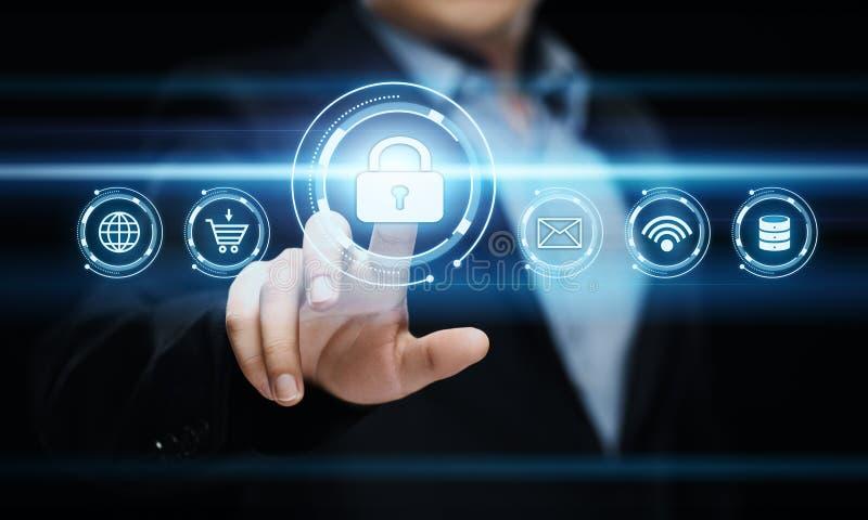 Begrepp för teknologi för internet för affär för avskildhet för säkerhet för Cyber för dataskydd arkivfoton