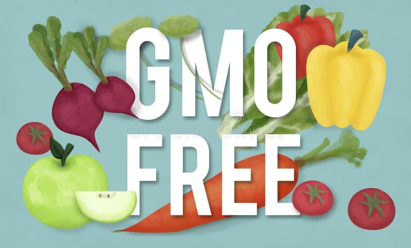 Begrepp för teknologi för växt för Icke-GMO natur organiskt vektor illustrationer
