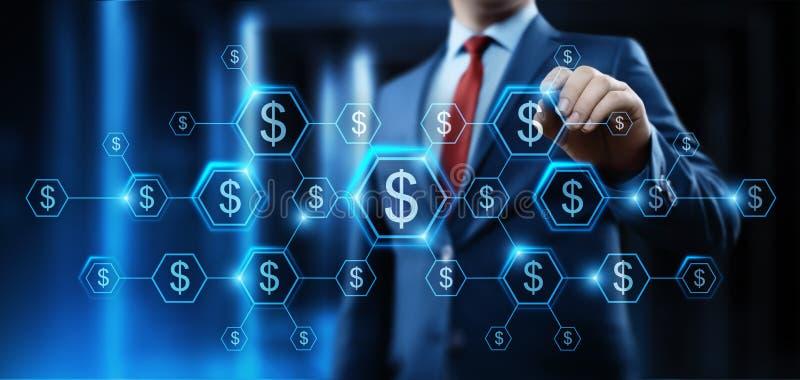 Begrepp för teknologi för finans för bankrörelsen för dollarvalutaaffär royaltyfri bild