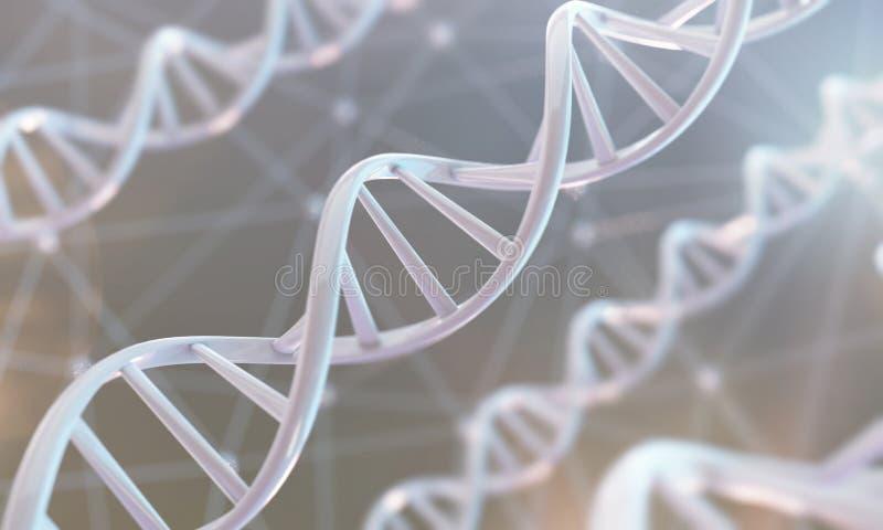 Begrepp för teknologi för genetisk forskning för DNAmolekyl stock illustrationer
