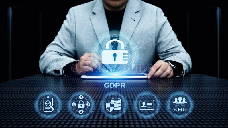 Begrepp för teknologi för internet för affär för reglering för skydd för allmänna data för GDPR royaltyfria foton