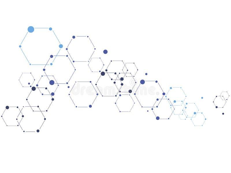 Begrepp för teknologi för vektorvetenskapsmyra stock illustrationer
