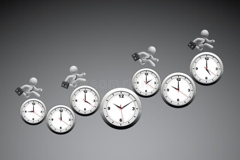 Begrepp för Tid ledning vektor illustrationer
