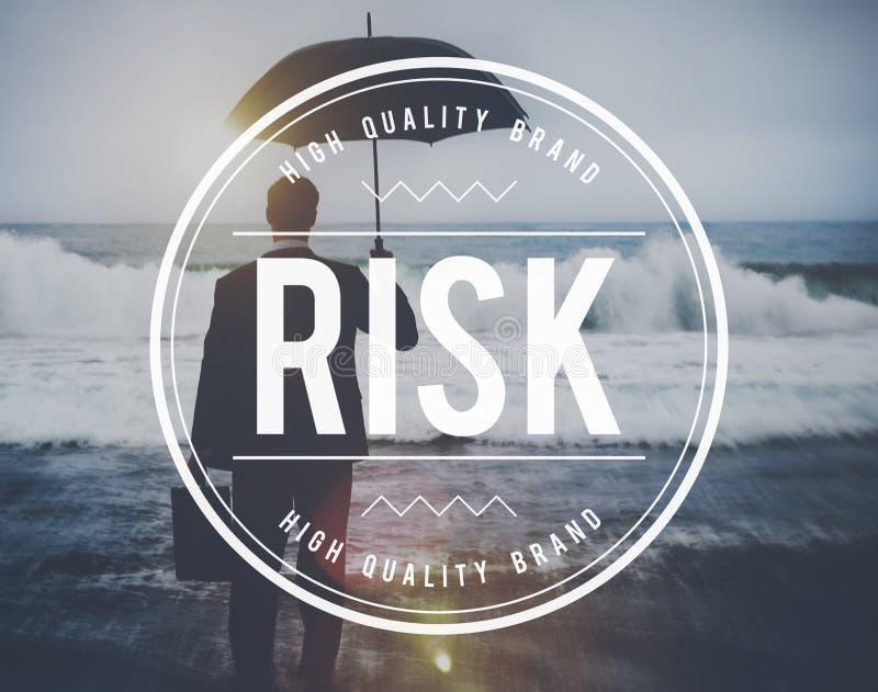 Begrepp för tillfälle för prognos för riskledning osäkert royaltyfri bild