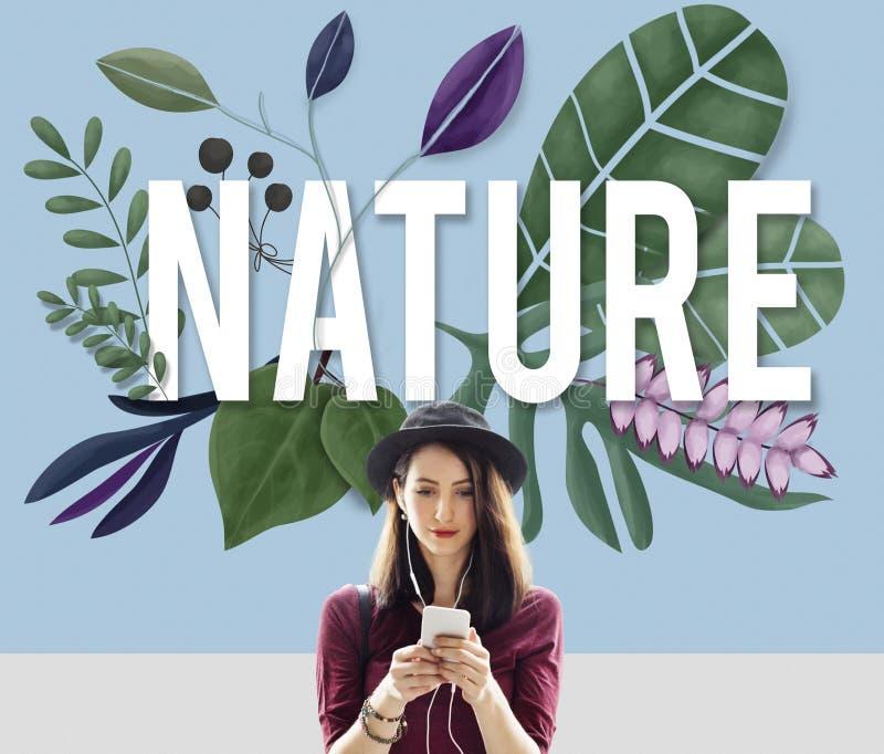 Begrepp för tillväxt för grön jord för naturmiljö naturligt fotografering för bildbyråer