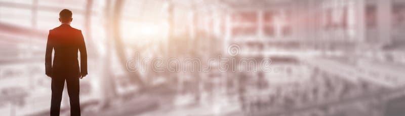 Begrepp för titelrad för Website för Cityscape för affärsfolk företags abstrakt royaltyfri foto