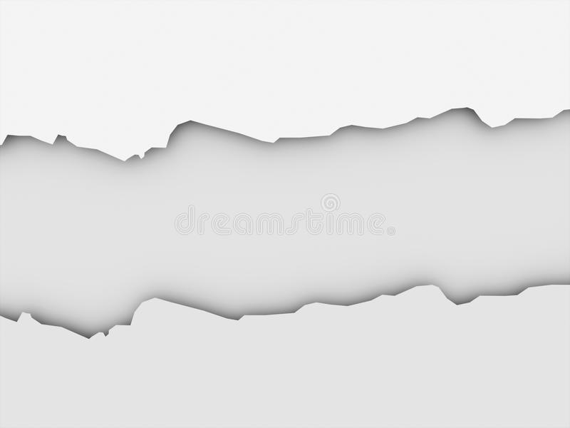 Begrepp för tomt papper för avbrott på mörker royaltyfri illustrationer