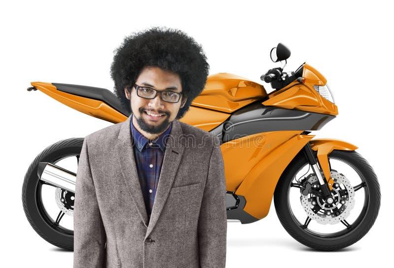 Begrepp för trans. för roadster för mopedmotorcykelcykel vektor illustrationer