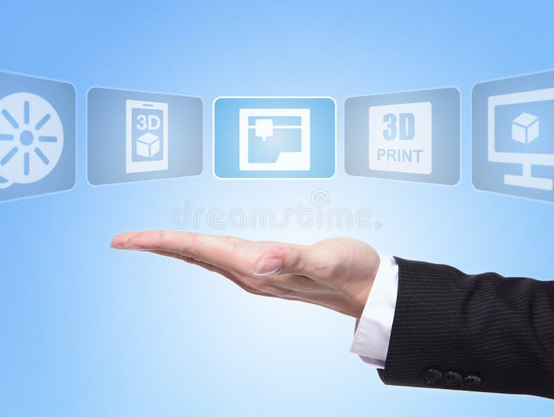 begrepp för tryck 3D royaltyfri bild