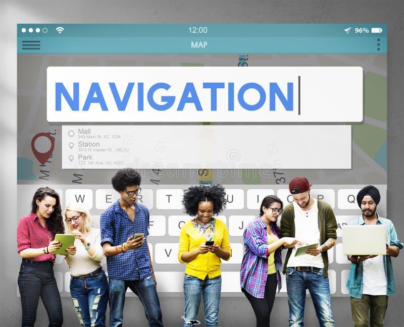 Begrepp för tur för sökande för navigeringlägelopp royaltyfri foto