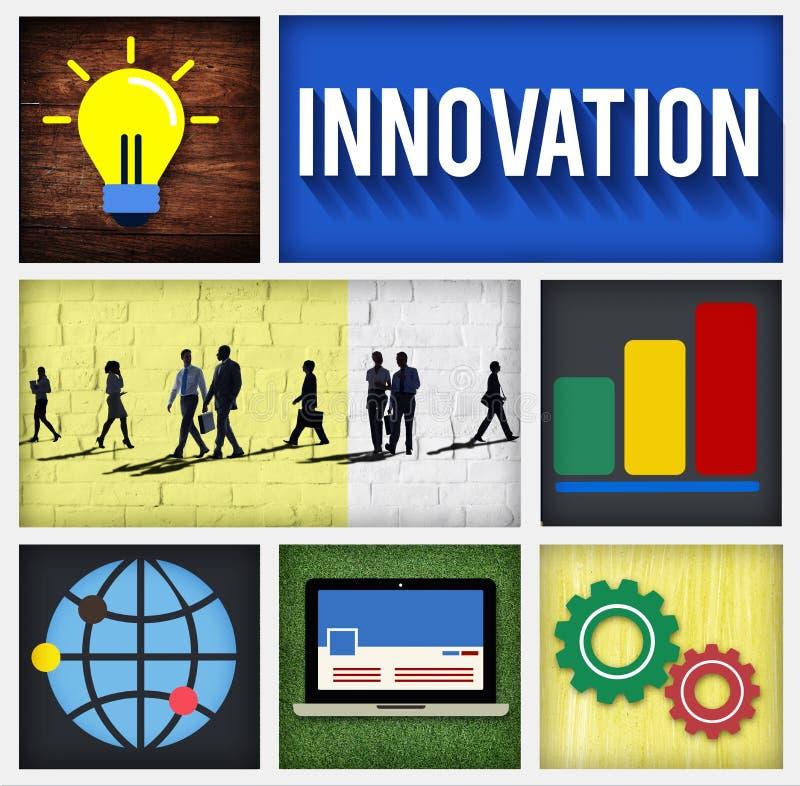 Begrepp för uppfinning för innovationteknologiutveckling idérikt stock illustrationer