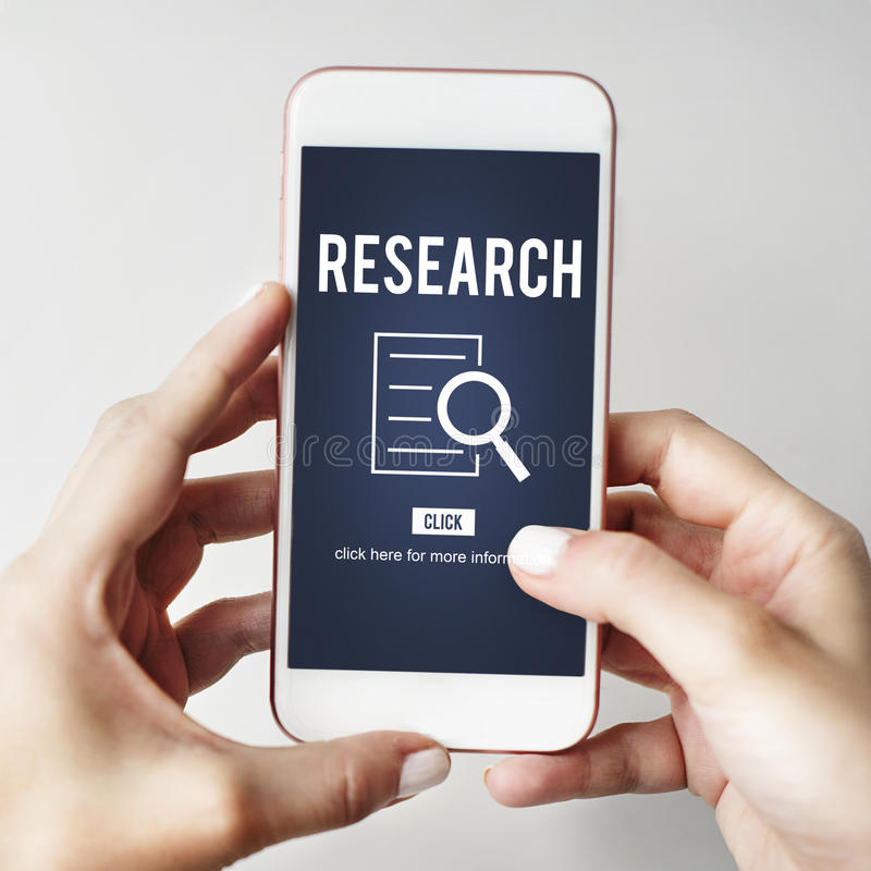 Begrepp för utredning för forskninganalysupptäckt royaltyfria foton