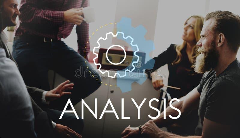 Begrepp för utveckling för analysaffärshandling arkivbild