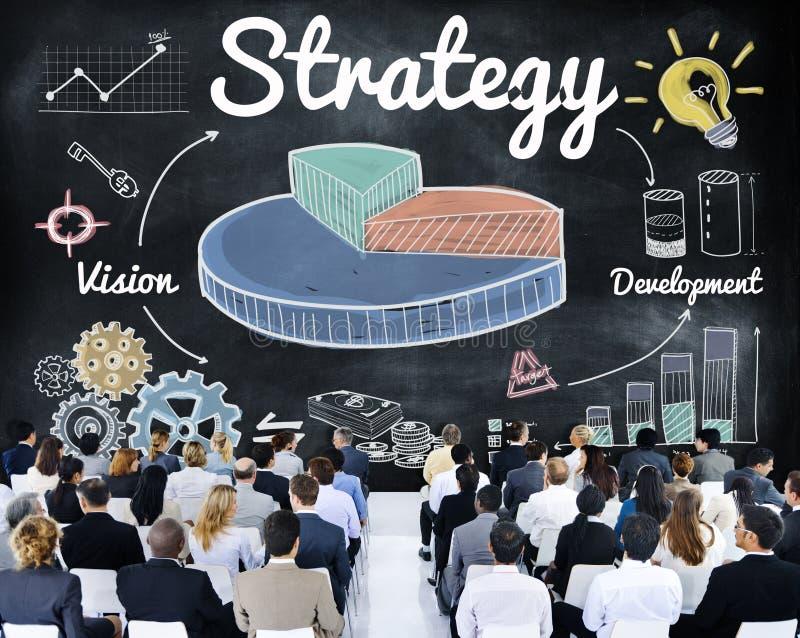 Begrepp för utveckling för vision för strategiaffärsdiagram royaltyfri foto