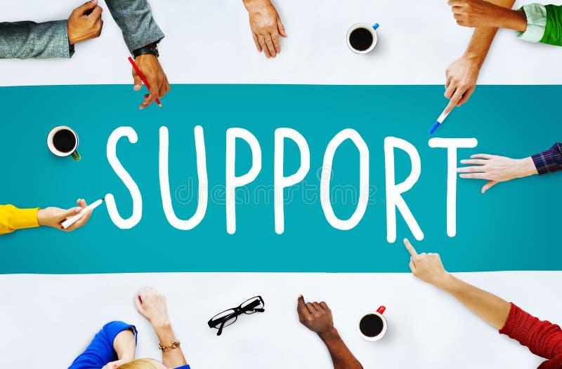 Begrepp för vägledning för supporttjänsthjälphjälp royaltyfri bild