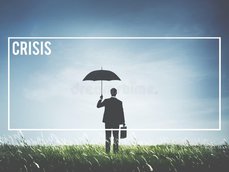 Begrepp för vändpunkt för risk för katastrof för krisförlustnedgång royaltyfri fotografi