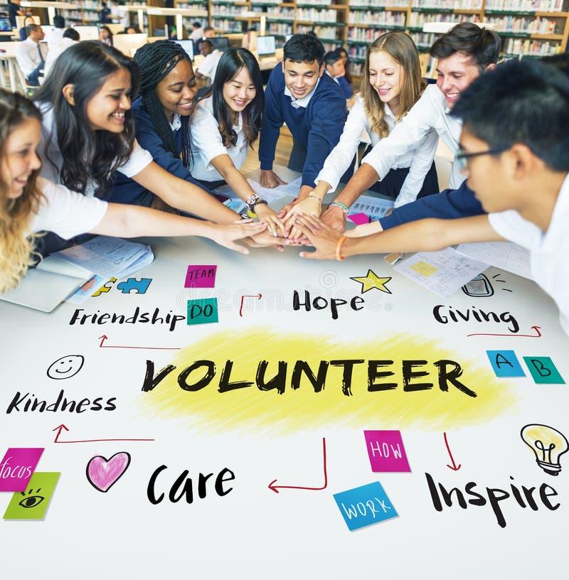 Begrepp för vänlighet för hopp för volontärhjälpdonation arkivbild