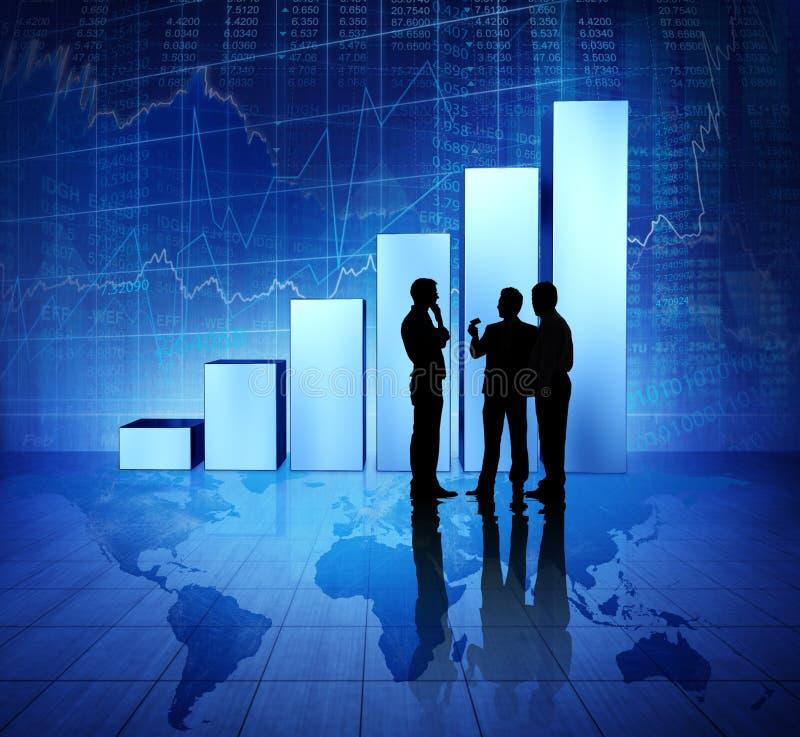 Begrepp för värld för gruppaffärsfolk ekonomiskt arkivfoton