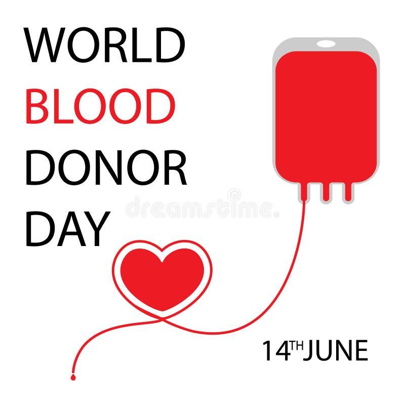 Begrepp för världsblodgivaredag stock illustrationer