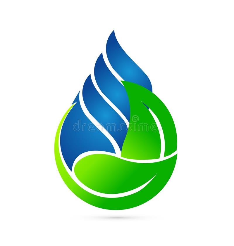 Begrepp för vattendroppekologi stock illustrationer