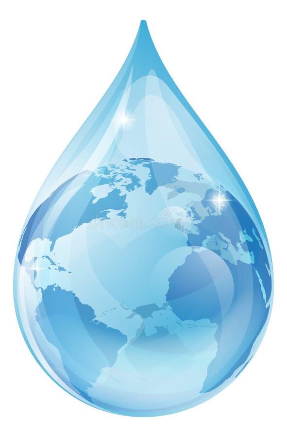 Begrepp för vattendroppjord stock illustrationer