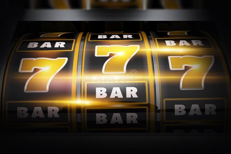 Begrepp för Vegas springavinnare 3D stock illustrationer