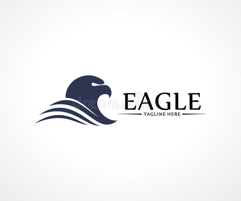 Begrepp för vektor för Eagle Bird logodesign, fågellogomall vektor illustrationer